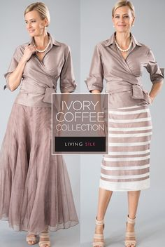 420f97972e7 Zambi Skirt - Coffee + Ivory. Mother Of The Groom ...