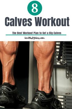 The 8 simple, but effective moves to help strengthen and stretch your calves. These calves workout exercises are easy to do at home. Calf Exercises, Workout Exercises, Workout Men, Fitness Exercises, Ace Fitness, Mens Fitness, Fitness Goals, Fun Workouts, At Home Workouts