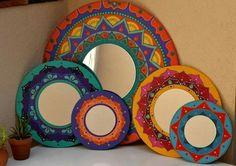 Brighten your homes this Diwali. DM for orders now . Mirror Mosaic, Mirror Art, Mosaic Art, Creative Crafts, Diy And Crafts, Arts And Crafts, Creative Ideas, Truck Art, Creation Deco