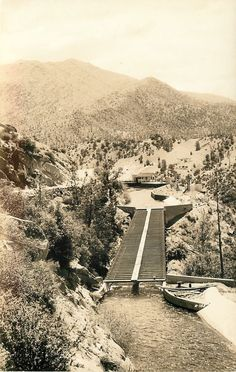 Kern Canyon California~Borel Powerhouse~Kern River Flume~1930s Real Photo~RPPC