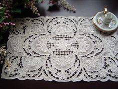 "Unique Vintage Hand Embroidered/cutwork Placemat4"" by Victoria's Deco, http://www.amazon.com/dp/B0026G6OYM/ref=cm_sw_r_pi_dp_ErMMpb0VW26PP"