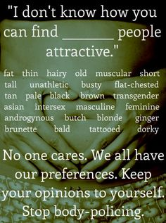 We all have our preferences!