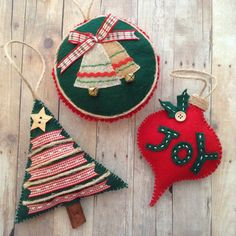 Christmas Ornaments / Christmas Felt Ornaments / by CraftsbyBeba