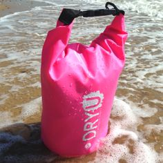 Small 5 litre pink waterproof dry bag. Great for protecting all the essentials…