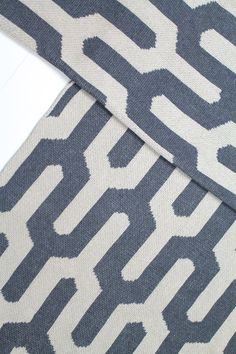 For my friends that don't like color, here's a neutral one: Tribal Eco Throw in Pewter and Linen. Bold Pattern Throw, without the color. From Happy Habitat.