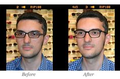 Hey handsome, great new #masunaga specs to show off your jawline and open up your eyes.  Easy, fun and effective eyewear makeover.  Guys, you've got to give this a try!! #eyeglassmakeover #menseyeglassses #1010optics #tortoiseshelleyeglasse