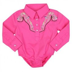 All Around Baby Pink Embroidery Western Onesuit