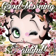 See the PicMix Betty boop belonging to Wolfjen on PicMix. Happy Morning Quotes, Morning Greetings Quotes, Good Morning Beautiful Pictures, Good Morning Images, Betty Boop Birthday, Black Betty Boop, Betty Boop Cartoon, Betty Boop Pictures, Disney Princess Pictures