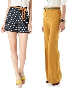We love the #polkadot shorts and hide waisted pants - it's a good illusion to make you look taller!