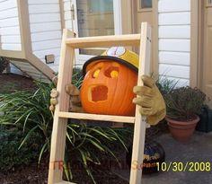 The Fireman On A Ladder Pumpkin