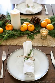 Fall Thanksgiving Tablescape, Simple Fall Decor Ideas via Fox Hollow Cottage