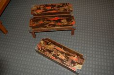 c.1900 unique pair of Chinese lacquer folding tables | From a unique collection of antique and modern coffee and cocktail tables at https://www.1stdibs.com/furniture/tables/coffee-tables-cocktail-tables/
