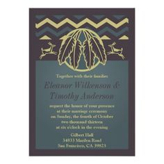 Native American Wedding Theme   Native American Wedding Invitations from Zazzle.com