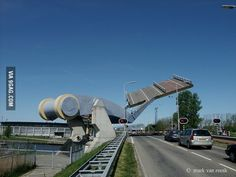 A real bridge in the Netherlands.