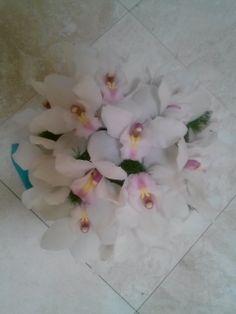 White Cymbidium Orchids Bouquet