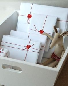 present-wrapping ideas use beewax or crayon as a seal