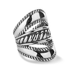 Carolyn Pollack Sterling Silver Three Stack Ring ** Want to know more, click on the image.Note:It is affiliate link to Amazon.