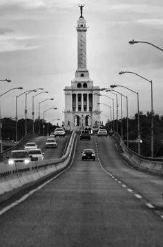 Monumento a los Héroes de la Restauración in the city of Santiago de los Caballeros, Dominican Republic.
