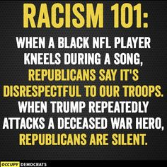The only thing McCain did that was heinous was disrespecting water, environmental rights, & tribes. Notaprez does it too. Nfl Players Kneeling, Political Memes, Us Politics, In God We Trust, Republican Party, We The People, Life Quotes, Wisdom, Songs