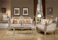 Gold Accent Living Room Furniture