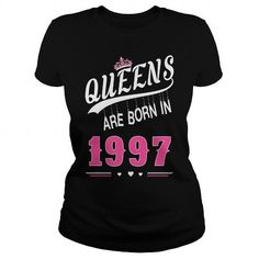 1997 Queens are born in 1997 #1997 #tshirts #birthday #gift #ideas #Popular #Everything #Videos #Shop #Animals #pets #Architecture #Art #Cars #motorcycles #Celebrities #DIY #crafts #Design #Education #Entertainment #Food #drink #Gardening #Geek #Hair #beauty #Health #fitness #History #Holidays #events #Home decor #Humor #Illustrations #posters #Kids #parenting #Men #Outdoors #Photography #Products #Quotes #Science #nature #Sports #Tattoos #Technology #Travel #Weddings #Women