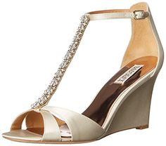Badgley Mischka Women's Romance Wedge Sandal, Ivory, 5.5 M US Badgley Mischka http://www.amazon.com/dp/B012ROAFH4/ref=cm_sw_r_pi_dp_o-X1wb1Y3W8NM