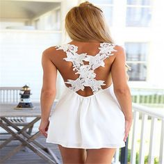 2016 Fashion women Elegant Vintage sweet lace white Dress stylish sexy casual slim beach Summer Sundress vestidos-in Dresses from Women's Clothing & Accessories on Aliexpress.com   Alibaba Group