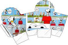 Caixa Cupcake Snoopy: