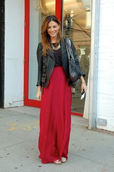 maxi skirt in place of jeans...