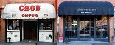 CBGB was a rock and roll landmark, where the Ramones, Blondie, Sonic Youth and others got their start. Now, the venue is a boutique for menswear designer John Varvatos.
