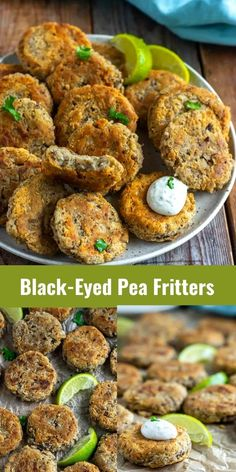 These amazing Black-Eyed Pea Fritters are so irresistible, perfect for your New Year's Eve party. Seasoned black-eyed peas are crispy on the outside and moist inside, delicious served with ranch dressing.