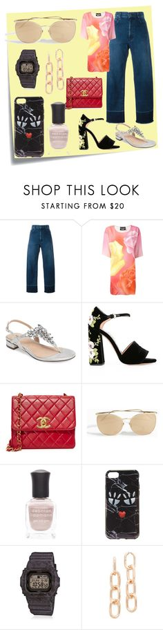 """Style for your"" by denisee-denisee ❤ liked on Polyvore featuring Post-It, Rachel Comey, Boutique Moschino, Pink Paradox London, Rochas, Linda Farrow, Deborah Lippmann, Iphoria, G-Shock and Alexander Wang"