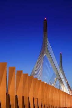 Inch Print - High quality print (other products available) - akim Bunker Hill Bridge, Boston, Massachusetts - Image supplied by Fine Art Storehouse - Photo Print made in the USA Cable Stayed Bridge, Bunker Hill, Boston Massachusetts, Beautiful Buildings, Modern Buildings, Poster Size Prints, Planer, Photo Mugs, New England