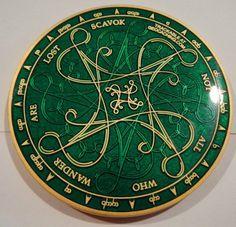 Tengwar Nawwal Geocoin Green Trackable Icon   eBay