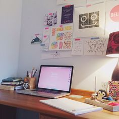 Day 3 of #MarchMeetTheMaker is workspace and this is where I work. My little office is in the spare room of our house in Hemel Hempstead and I love it in here. I've changed this desk around quite a few times but it seems to be working well at the moment. To the left I keep my sketchbook bullet journal my diary and a pencil pot in the shape of a sharpener with all the pens that I use the most. Then on the right is a tray with all sorts of bits and pieces cute scissors sharpeners washi tape…
