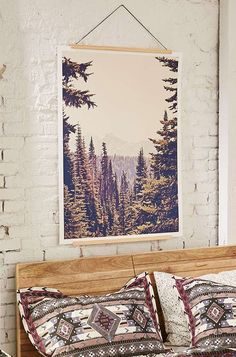 Slide View: 1: Kurt Rahn Mountains Through The Trees Art Print