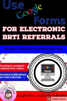 Organize & streamline your Behavior RTI program. This form is created using Google forms and can be copied to your Google Drive. Teachers can complete a questionnaire & make a referral electronically. You will receive a notification every time a student is recommended. Collecting data for your BRTI program will be made easy! #BRTI #GoogleForm #BRTIreferral #DataCollection #CreativeCounselor #CreativeCounselingResources Elementary School Counselor, School Counseling, Elementary Schools, Student Data Collection, Teacher Forms, Response To Intervention, Counseling Activities, Google Drive, Behavior