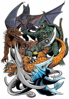 Gamera and his enemies