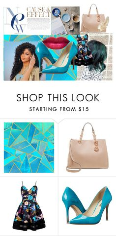 """""""Because of the New Blue"""" by queencastle ❤ liked on Polyvore featuring MICHAEL Michael Kors, BCBGeneration, Envi and Blue"""