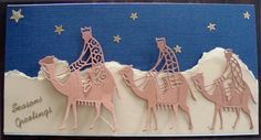 Tattered Lace - Three Wise Men - Fits a Business size envelope.