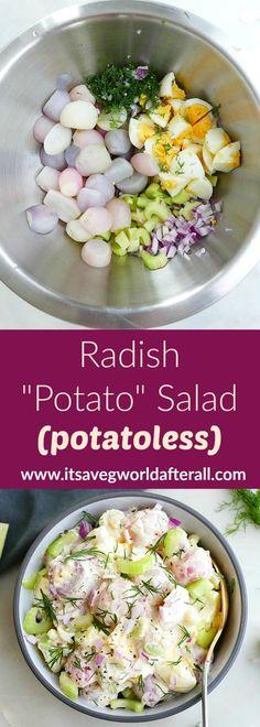 Trim Healthy Recipes, Healthy Vegetable Recipes, Vegetarian Recipes, Cooking Recipes, Yummy Veggie, Celery Recipes, Radish Recipes, Salad Recipes, Healthy Yogurt