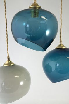 Blown glass pendants for Coppa Club by Rothschild & Bickers