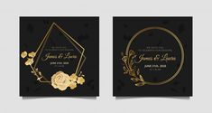 Wedding Invitation With Gold Rose, Botanical, Circle And Hexagonal Frame Wedding Invitation Vector, Laser Cut Invitation, Luxury Wedding Invitations, Laura James, Frame Download, Periodic Table Of The Elements, Vector Free, Our Wedding, Flower Frame