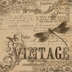 Printable image for decoupage and transfer purposes -vintage ephemera