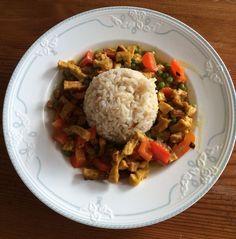 Schnelles veganes Tofu-Thai-Curry