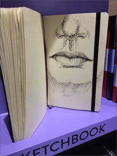 No matter what your analog need, sketchbook to journal to diary, Moleskine® has an offering to suit, and demonstrates each at the shelf edge in Moleskine retail boutiques. Here an anatomical study . Retail Boutique, Moleskine, Boutiques, Anatomy, Shelf, College, Study, Journal, Face