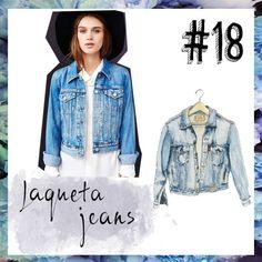 O número 18 da minha lista do #Top100 peças que não vivo sem é a jaqueta jeans! - denim jacket