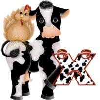 Alfabeto con vaca y gallina. | Oh my Alfabetos!