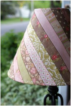 Moda Bake Shop shows you how to use a honey bun and make this fabric patchwork Fabric Crafts, Sewing Crafts, Diy Crafts, Upcycled Crafts, Ribbon Crafts, Sewing Hacks, Sewing Tutorials, Quilt Tutorials, Fabric Lampshade