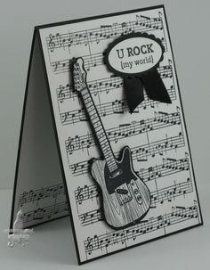 Hi there, Today's post is for The Paper Players Challenge this week to add Music. This card was awarded the Cut Above Award at The Paper. Homemade Birthday Cards, Birthday Cards For Men, Homemade Cards, Male Birthday, Masculine Birthday Cards, Masculine Cards, Boy Cards, Kids Cards, Cards Diy